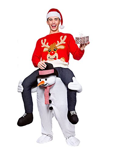 Emmarry costumes Christmas Piggyback Ride On Riding Shoulder Adult Costume Snowman Pants-One Size (Ship by (Piggyback Costume Snowman)