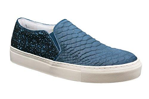 Donna Beige Piazza Damen Slipper Blu blu Mocassini qBxtORHw