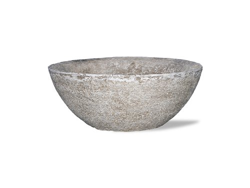 Lava Stone Planter (Amedeo Design 2513-306G 12 by 6 by 12-Inch Lava Bowl, Small, Lead Gray)