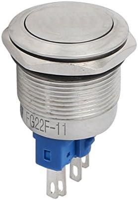 uxcell 押しボタンスイッチ スイッチ ステンレス製 DC24V スレッド直径22mm 4P