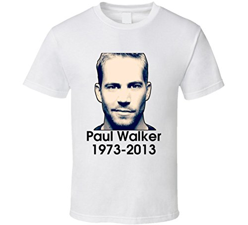 T-Shirt Bandit RIP Paul Walker Tribure Memorial Mens Fast and Furious T Shirt 2XL White