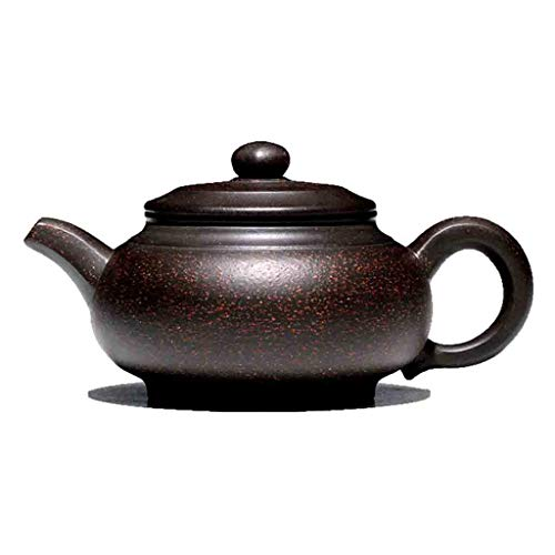 (Zisha pot pure handmade teapot with ore black gold sand Liufang Fugu kettle teapot ore Zhu mud teapot all hand-painted Kung Fu tea set stone pot pot (Color : BLACK, Size : 155.87.5CM))