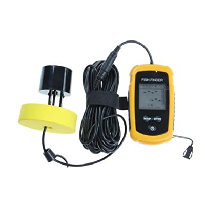 Lychee Fish Finder New Portable Sonar LCD Alarm Sea Contour Ice 100M 328Ft Detect Weeds from Lychee