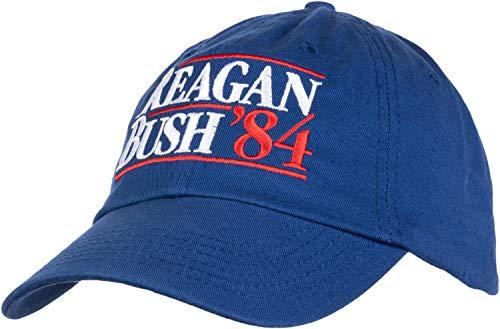(Reagan Bush '84 | Vintage Style Conservative Republican GOP Baseball Cap Dad Hat Royal Blue)