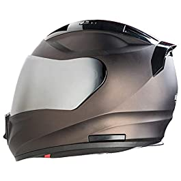 Steelbird SA-1 7Wings Aeronautics Full Face Helmet in Matt Finish (Large 600 MM, Glossy Royal Brown Helmet Fitted with…