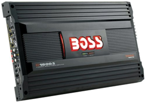 Boss D1800.5 Diablo 5-Channel Mosfet Bridgeable Power Amplifier Remote subwoofer level control; Line and speaker level input; Variable bass boost 0 to +18dB; Bridgeable and Tri-mode operation