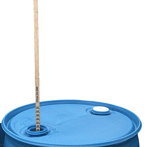 55 Gallon Hardwood Drum Gauge Stick 48 inch Length, Double Sided Measures on Side or - Gauge 55 Drum Gallon