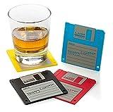 Floppy Disk Retro Silicone Drink Coasters 1.44m