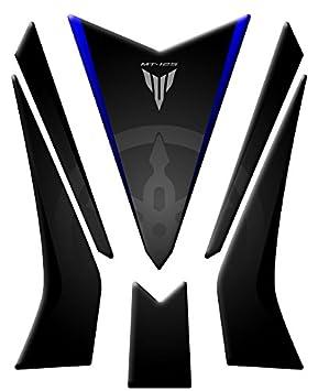TANKPAD / TANKDECKELSCHUTZ, KOMPATIBEL MIT DEM MOTORRAD-MODELL: YAMAHA MT-125, ARTIKEL GP-370 (M) blau Totalstickers3D