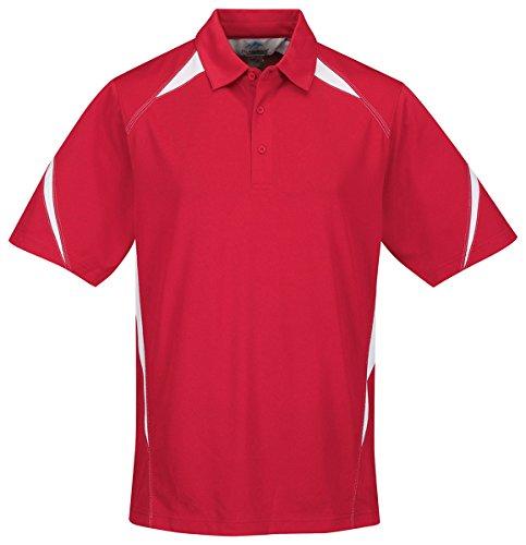 Mens UltraCool® 3-Button Birdseye Mesh Lightning Sports Polo (12 Colors, S-6XLT)