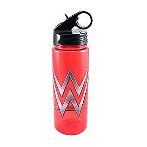 Silver Buffalo WE4164 WWE Logo Red Tritan Water Bottle, 20-Ounces
