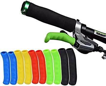 Juscycling Anti-Slip Shock-Absorbing and Comfortable Brake Handle Silicone Sleeve Universal Brake Lever Protection Cover for Road Bike and MTB,2 Pairs