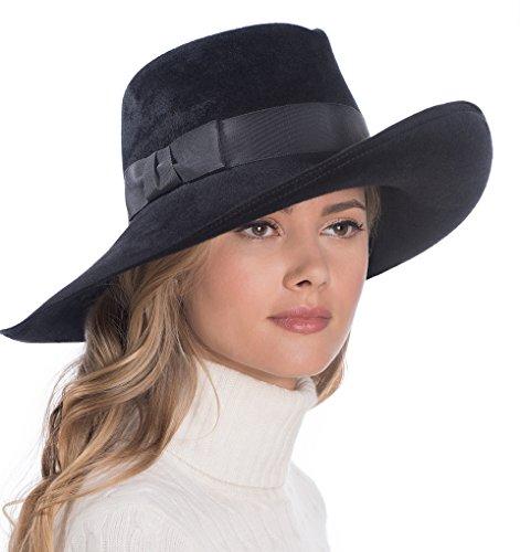 Eric Javits Luxury Fashion Designer Women's Headwear Hat - Candice - Black by Eric Javits
