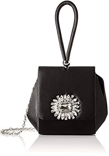 Jessica McClintock Honey Top Handle Evening Bag, Black ()