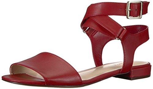 Femmes Sandale Neuf En Plat Cuir Ouest Cuir Pouces Rouge x0OBqOZ5w