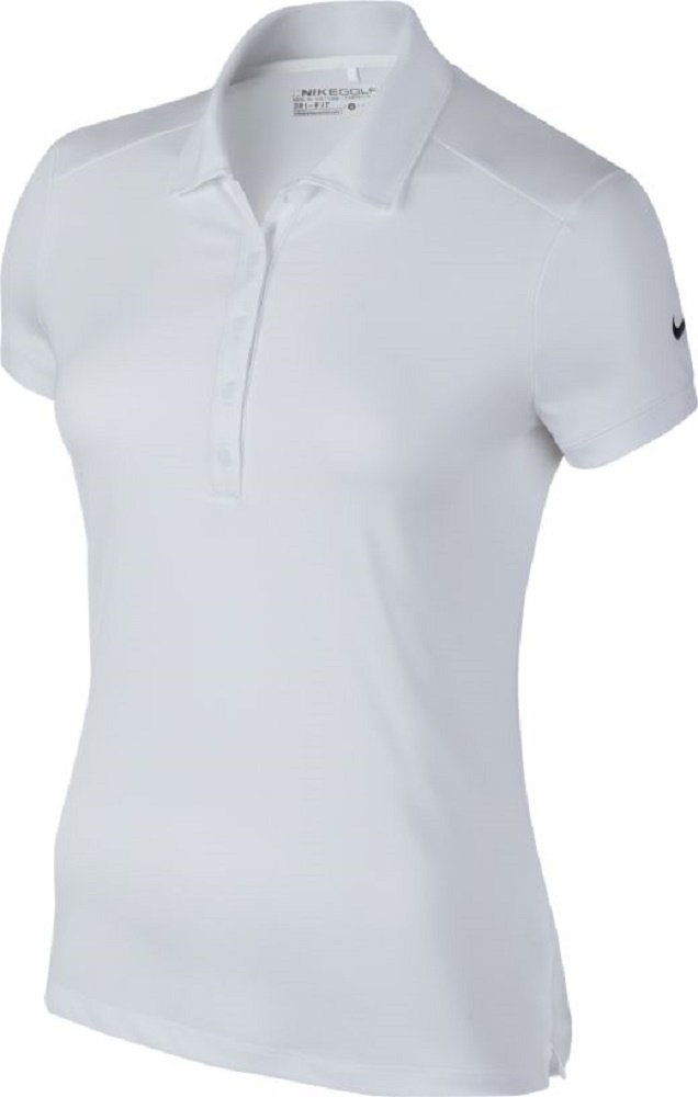 Nike Victory Solid Golf Polo 2016 Ladies White/Black Large by Nike