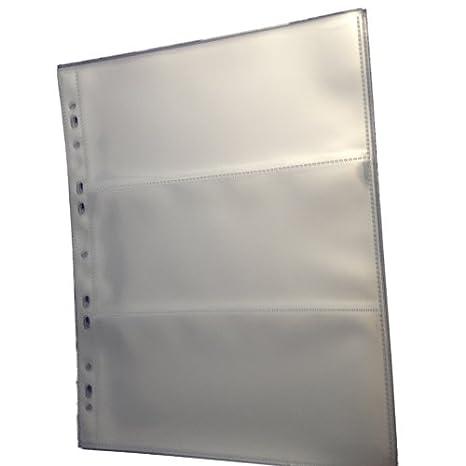 49d337f8d7 10Buste perforate trasparenti A4–album di buste per  archiviazione