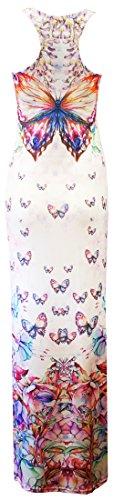 Girls Azteken Womens Schmetterling Kim Racer Maxi Floral Print Print Verrückte Kardashian Mädchen Kleid Butterfly Maxi Crazy dtqRwYx0Y