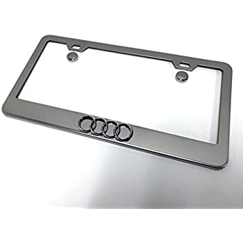 Audi Plate Frame >> Amazon Com Audi License Plate Frame With Logo Chrome