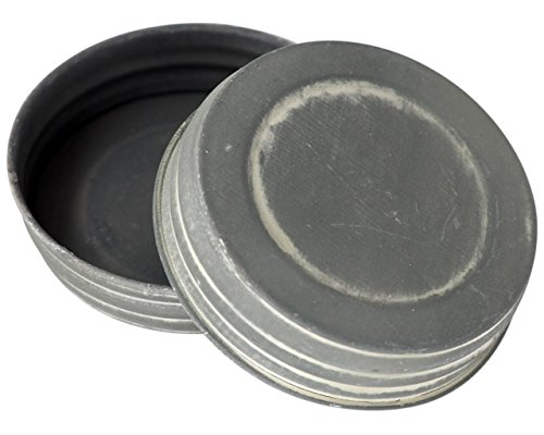 Reproduction Mason Jar Lids (4 Pack, Wide Mouth) (Old Canning Jars)