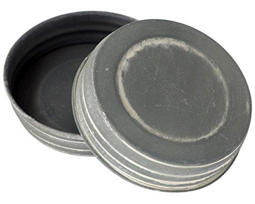 - Antique Zinc Vintage Reproduction Mason Jar Lids (4 Pack, Wide Mouth)