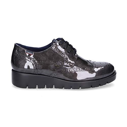 Cuir À Femme Callaghan Chaussures Gris 89812silver Lacets XxtwSqR