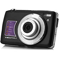 KINGEAR PDK003 2.7 Inch TFT 8X Optical Zoom 18MP 1280 X 720 HD Anti-shake Smile Capture Digital Video Camera-Black