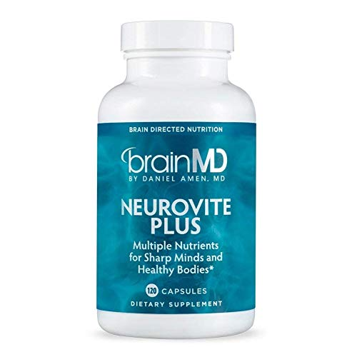 Dr. Amen brainMD NeuroVite Plus – 120 Capsules – Multivitamin Mineral Supplement, Enhanced with Phytonutrients, Enzymes Whole Foods – Gluten-Free – 30 Servings