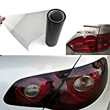 YAOBLUESEA 200x30cm Auto Car Headlight Taillights Tint film Self Adhesive Vinyl Wrap Sheets Black