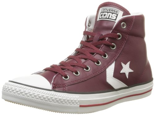 Unisex Converse Star Player EV Mid Sneaker All Star Shoes Burgundy/White 139874C Size M11-W13 ()