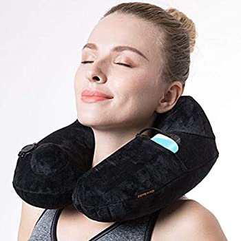 Aibolt Inflatable Heat Neck Travel Pillow