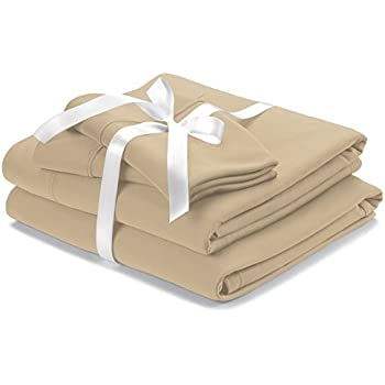 Wicked Sheets Original Moisture-Wicking Bed Sheet Set/for Night Sweats & Hot Flashes (Queen, Deep Pocket, Beige)