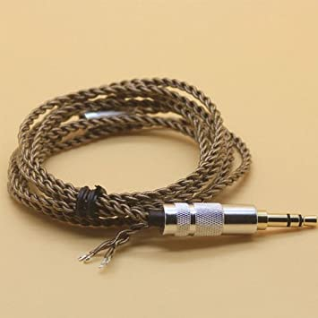 Xinkaize High Quality New Matte Silver 3.5mm OCC Silver Plated 3D Sound Upgrade Cable Repair