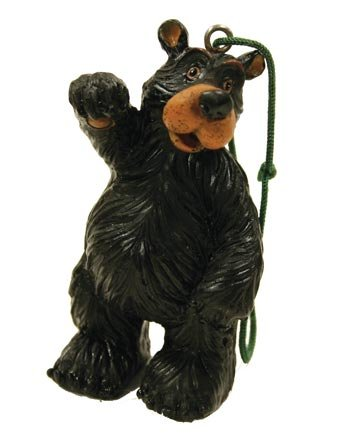 Cute Bear Figure Collectible Ornaments, Set of 3, (Assorted (Hanging Bear Ornament)