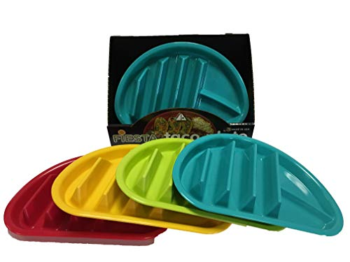 Arrow Home Products 10109 Fiesta Taco Plate, 12-Pack Assorted -