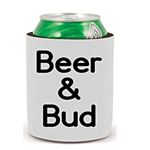 Beer and Bud Drinking Weed Can Cooler Can Sleeve Bottle Holder