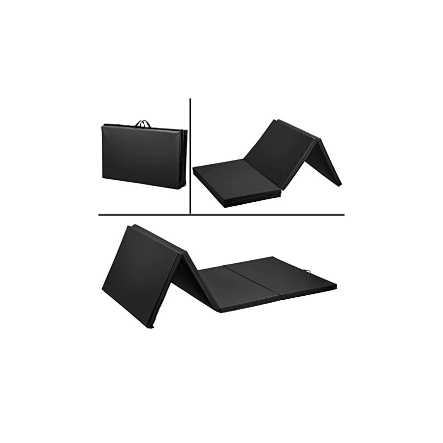 BestMassage 4'x10'x2 Thick Folding Panel Gymnastics Mat Gym Fitness Exercise Mat
