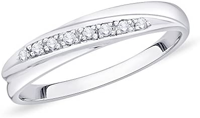Princess Cut Diamond Anniversary Wedding Band Stackable Ring In