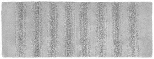 Garland Rug Essence Runner Nylon Washable Rug, 22-Inch by 60-Inch, Platinum Gray