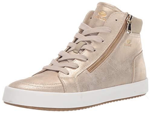 - Geox Women's BLOMIEE 11 Fashion HIGH TOP Sneaker with Zipper, Taupe 37 Medium EU (7 US)