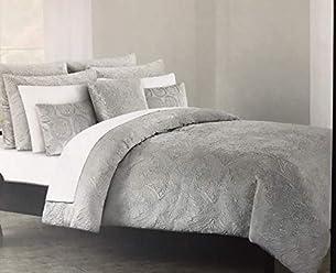 Tahari King Duvet Cover Set Soft Luxurious Velvet Bedding 3 Piece, Solid with Textured Medallion