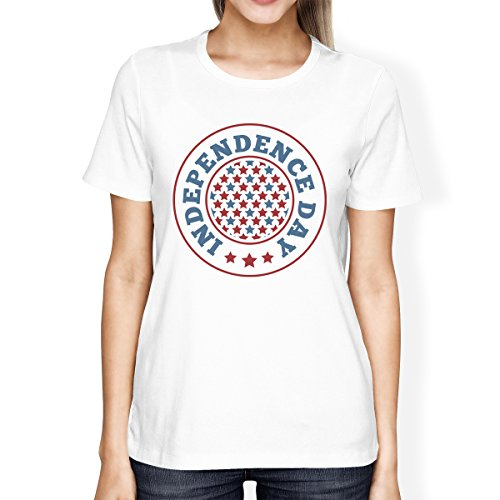 Independence Day Unique 365 Taille T Printing Femme Manches shirt Courtes xaCZqw8