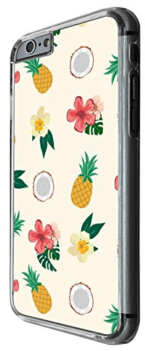 1363 - Cool Fun Trendy cute kwaii pineapple coconut flowers collage island holiday Design iphone 4 4S Coque Fashion Trend Case Coque Protection Cover plastique et métal - Clear