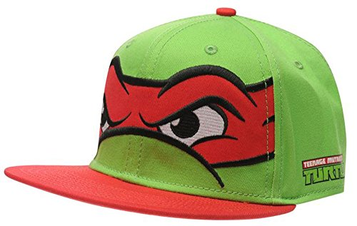 Mens Printed Novel Cap Flat Peak Snapback Breathable Headwear (Mens, TMNT Red)
