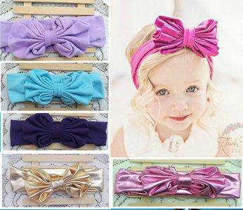 Amazon.com   Baby Girl Cotton Headwrap Floppy Big Bow Turban Headband for  Newborn Hair Baby Top Knot Headband   Everything Else b2fd2353f72