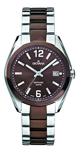 Grovana Men's 1554-1146 Traditional Analog Display Swiss Quartz Two Tone Watch