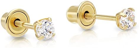 18K Gold Plated Stud Earrings. SERENITY \u2013 Baby Edition II