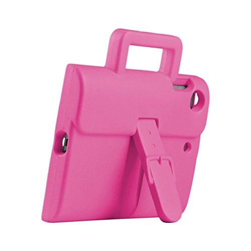 Super Slim Smart Leather Cover Case for Apple iPad Air 2 (Hot Pink) - 7