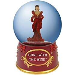 Gone with the Wind Water Globe with Red Dress Scarlet O'Hara Figurine