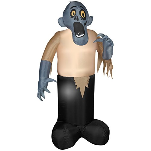 Animated Shaking Inflatable Zombie Halloween Yard Decoration ()